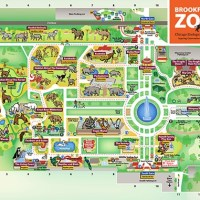 map of brookfield zoo