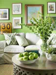 living room Pantone Greenery