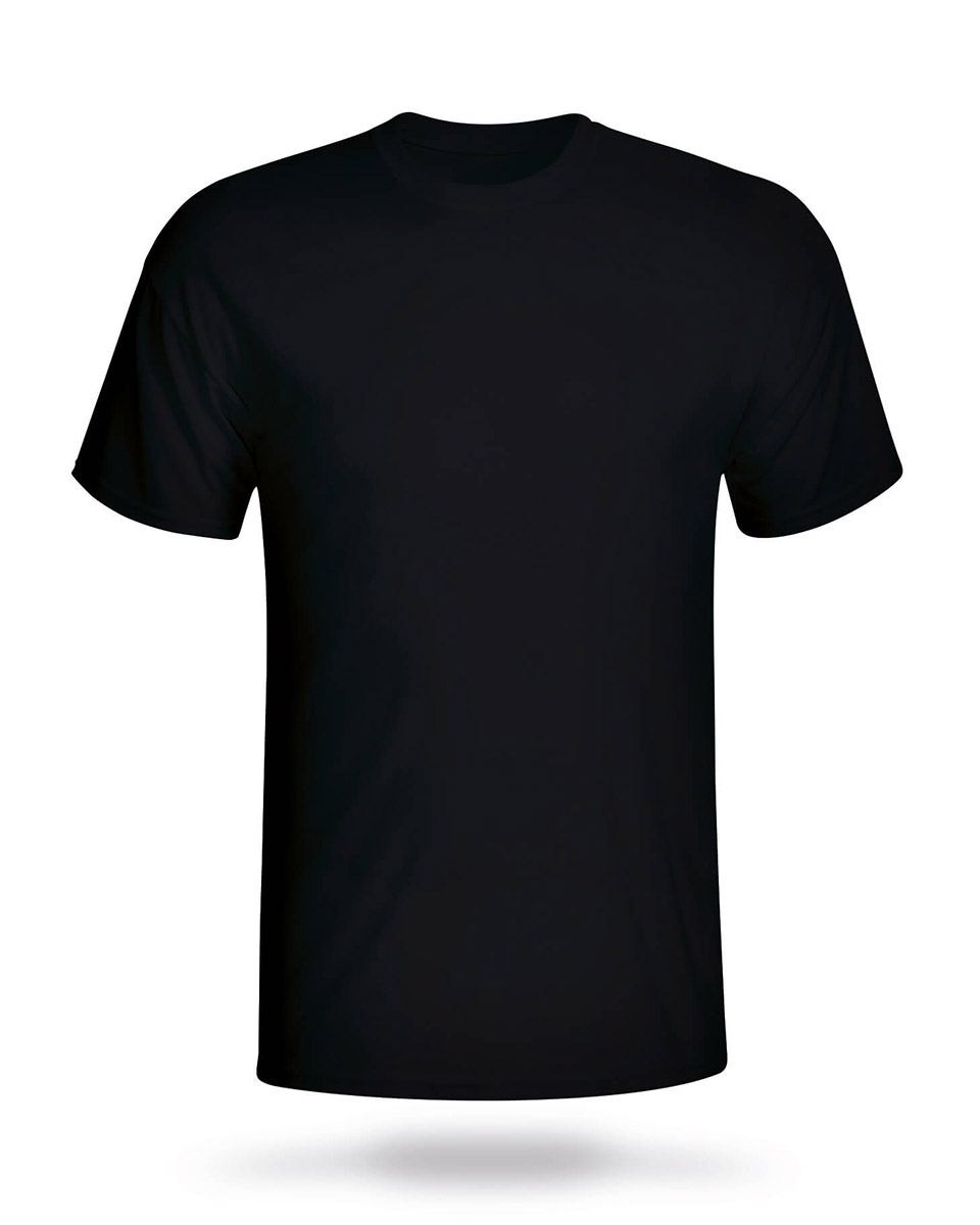 T Shirt Black Front
