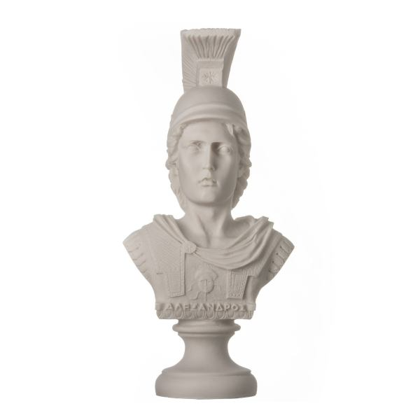 Alexander The Great of Macedonia with Helmet Bust Greek Statue Figure 7.48″