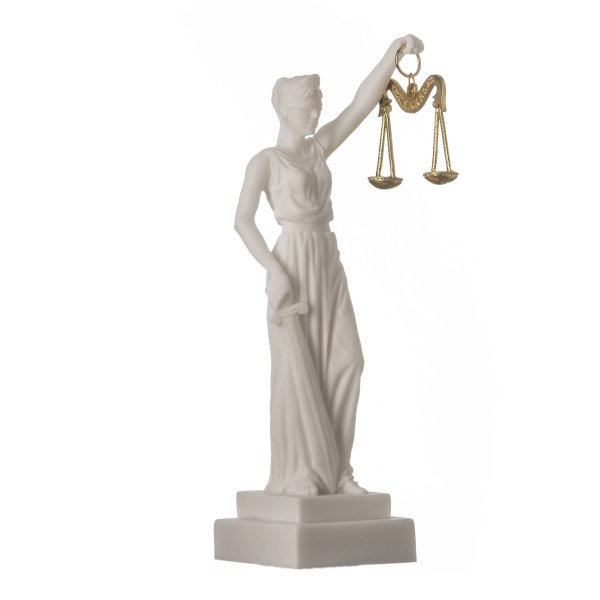 Greek Goddess Themis Statue Figurine Blind Lady Justice Sculpture Lawyer Gift