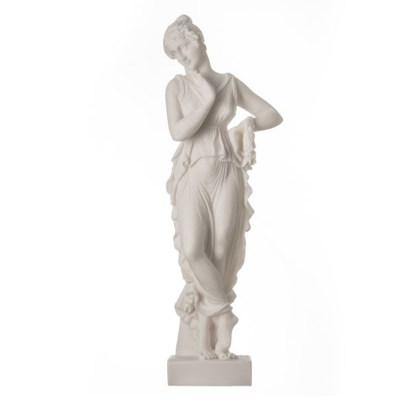Persephone Goddess Of The Underworld Springtime Flowers&Vegetation Statue 9.8″