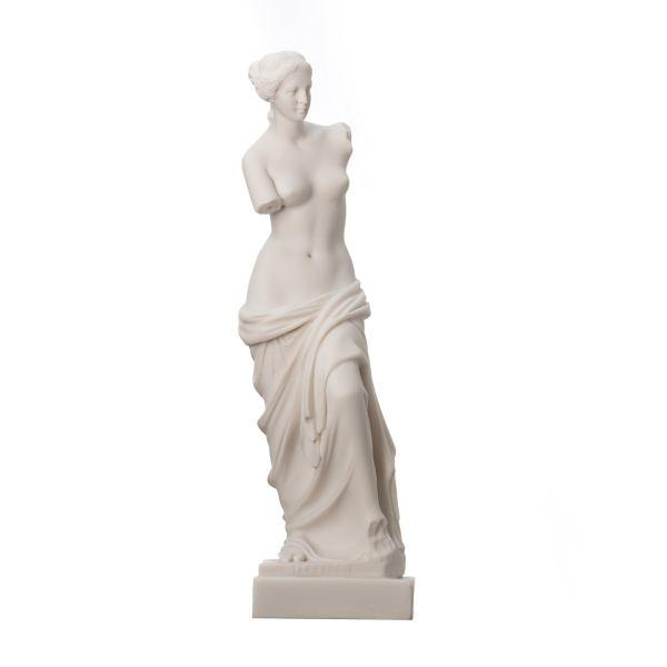 Nude Venus de Milo Aphrodite of Melos Statue Sculpture Alabaster 10.6″