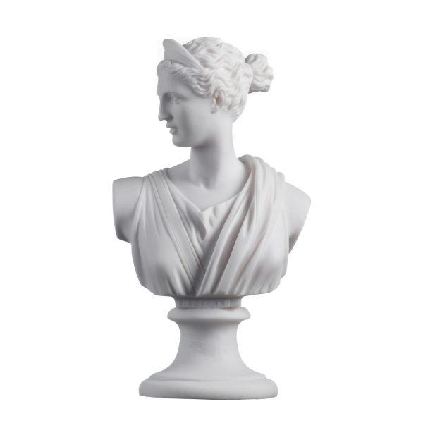 Artemis Diana Bust Greek Statue Nature Moon Goddess 8.66″