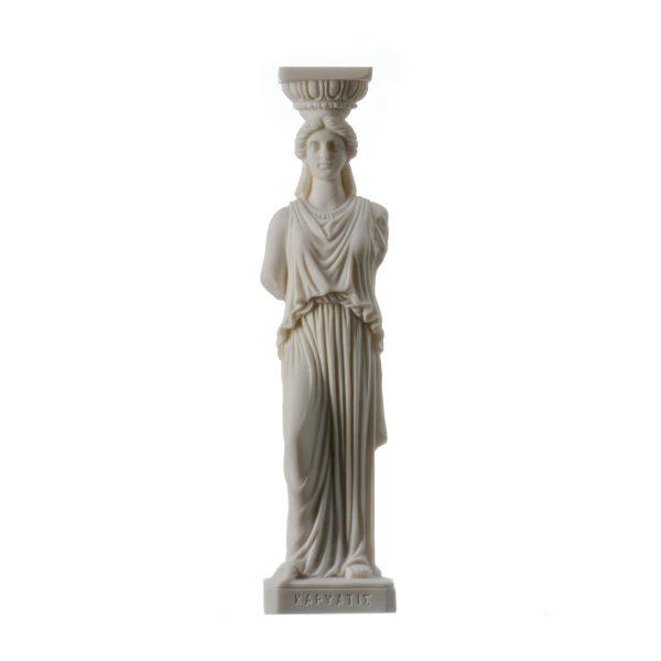 Greek Column Caryatid Caryatis Acropolis Athens Greek Roman Alabaster Statue 9.8″