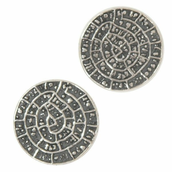 Phaistos Disc Knossos Earrings Silver Sterling 925 Mythical Greek Handmade L