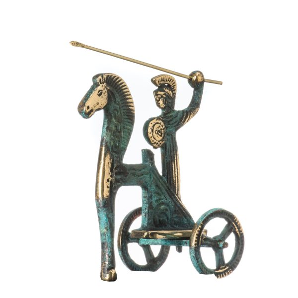 Chariot Of The Sun Athena With Spear Ancient Greek Bronze Museum Statue Replica