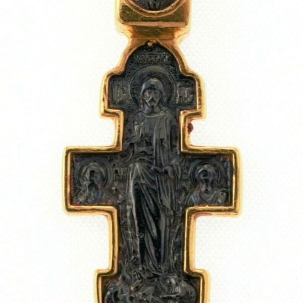 Orthodox Cross Russian Greek Crucifix Silver 925+.999 Gold 1.18″