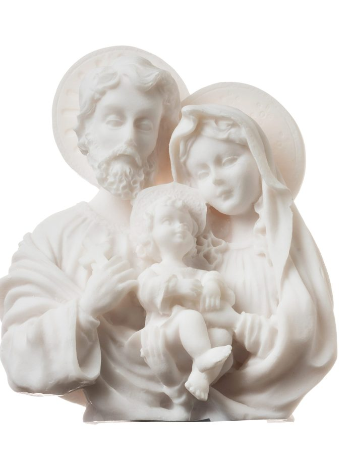 Holy Family w/ Young Jesus Christ Mary Joseph Statue Figurine Religious 4.72inch