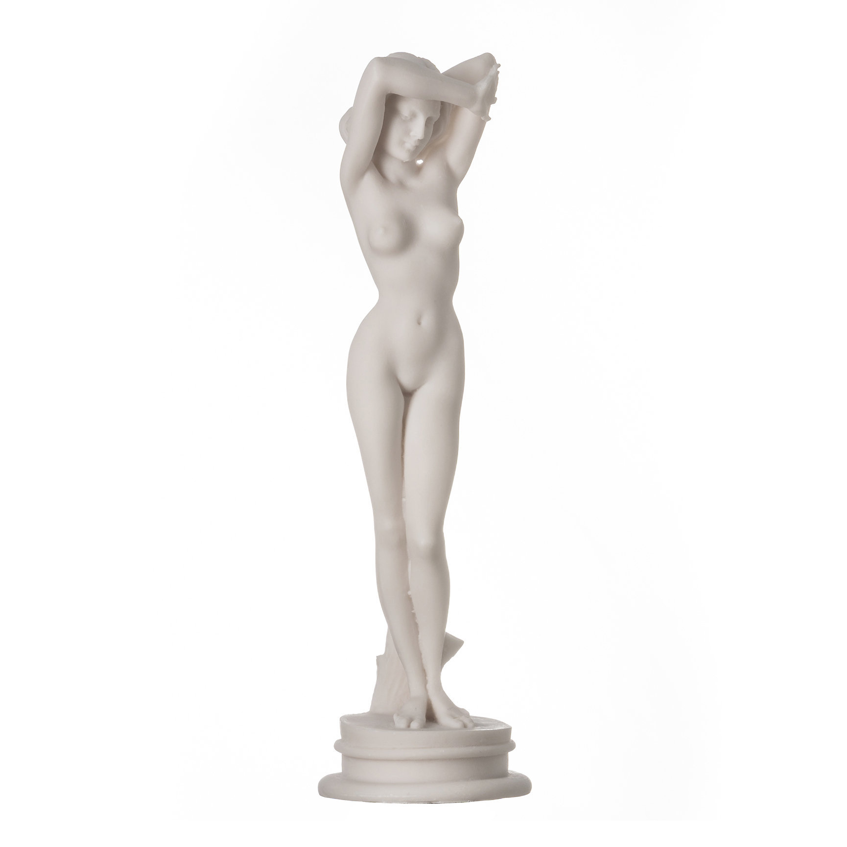 """Naked Nude Aphrodite Sexy Statue Female Woman Alabaster Sculpture 9.44"""" 24cm"""