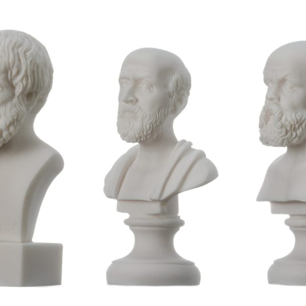 Greek Philosophers Bust set of three Aristotle Socrates Hippocrates