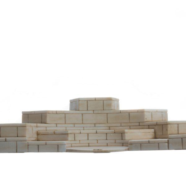Base for Set 12 Olympian Gods of Mount Olympus Pantheon Gold Tone Alabaster   6.7″