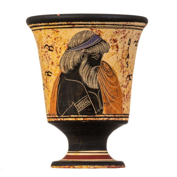 Pythagoras Cup of Justice Pythagorean Fair Mug Ancient Greek God Zeus Hand Painted Ceramic