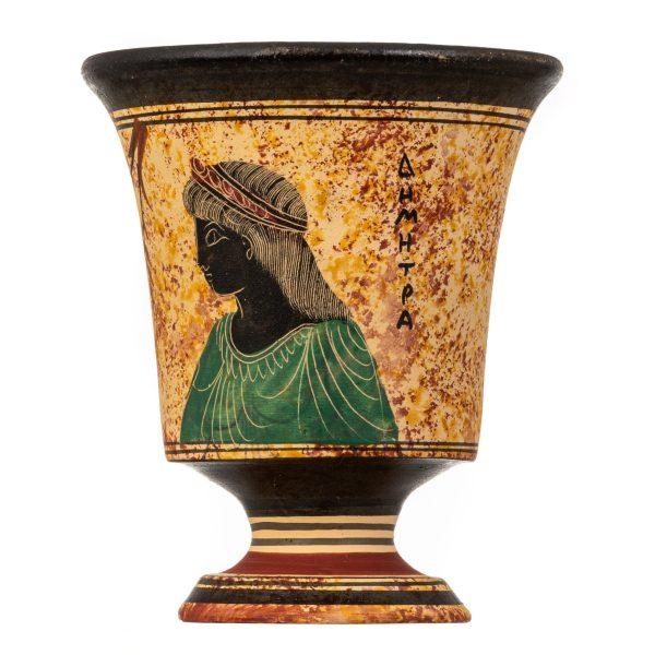Pythagoras Cup of Justice Pythagorean Fair Mug Ancient Greek Goddess Demeter Hand Painted Ceramic