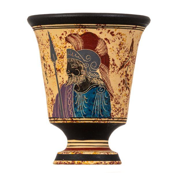 Pythagoras Cup of Justice Pythagorean Fair Mug Ancient Greek God Ares Hand Painted Ceramic