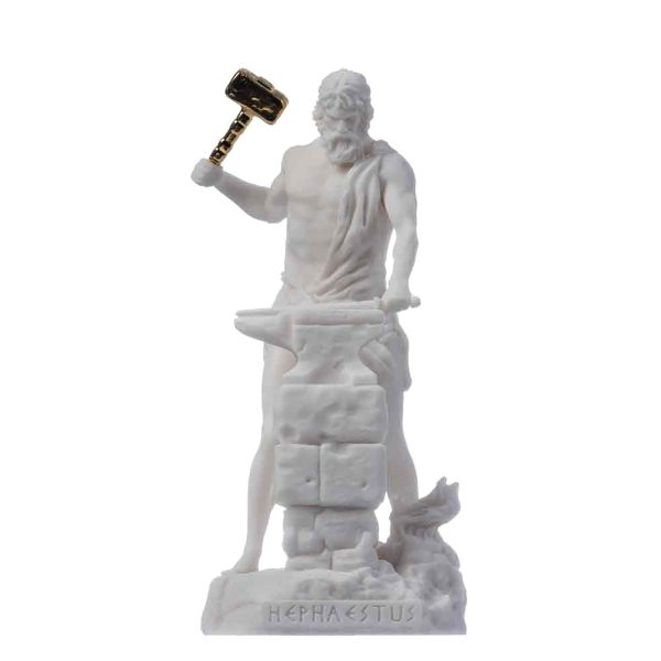 Hephaestus God of fire, metalworking, stone masonry, forges  and the art of sculpture 6.69″