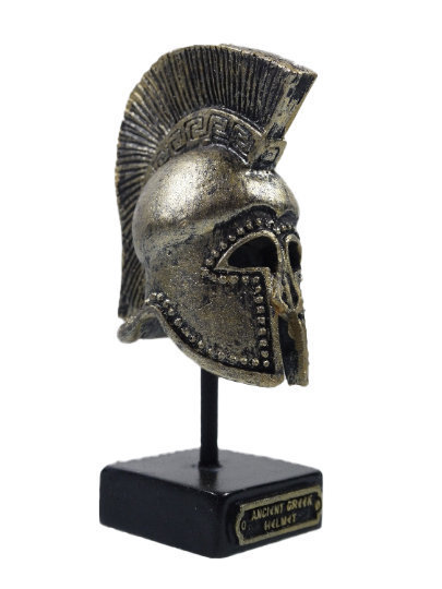 Ancient Greek Warrior Helmet 3.93″ Collectible Decor Black-Gold Coloured