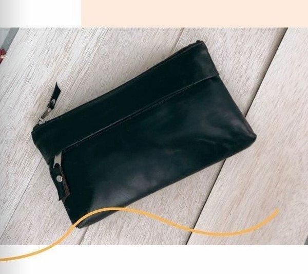 Leather Shoulder Bag Clutch bag Black Brown Beige White Red Handmade Cross Body Saddle Vintage Handbag Purse