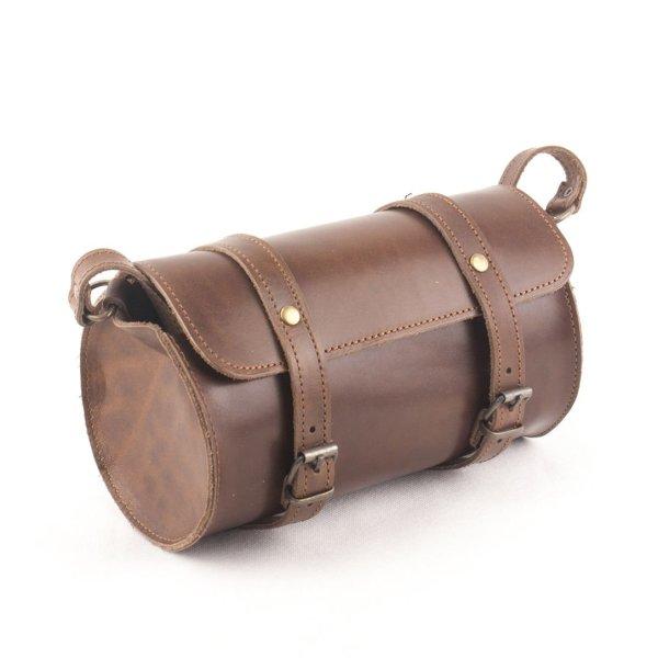 Leather Barrel Shoulder Bag Natural Tan Beige Vintage Brown Black Handmade Cross Body Saddle Vintage Handbag Purse M