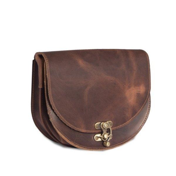 Leather Shoulder Bag Handmade Design Natural Beige Brown Black Burgundy Cross Body Satchel Vintage Saddle Handbag Purse