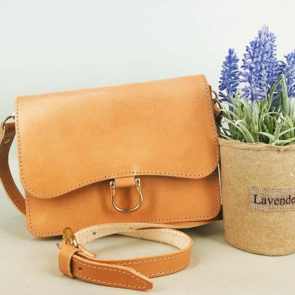 Leather Shoulder Bag Handmade Design Natural Tan Beige Brown Black Cross Body Satchel Vintage Saddle Handbag Purse S