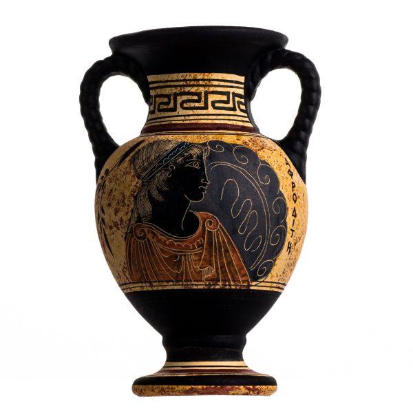 Ancient Greek Minoan Amphora Aphrodite Handmade Pottery Vase Ceramic