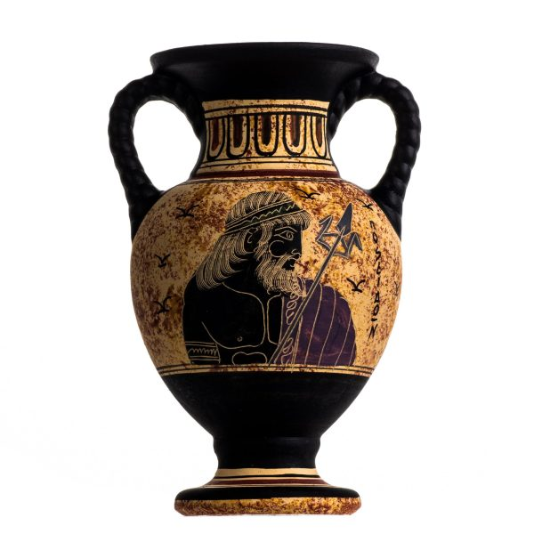 Ancient Greek Minoan Amphora Poseidon Handmade Pottery Vase Ceramic
