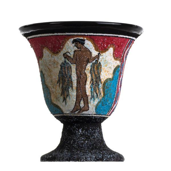 Pythagoras Cup of Justice Pythagorean Fair Mug Ancient Greek Minoan Fresco Mural of Fisherman