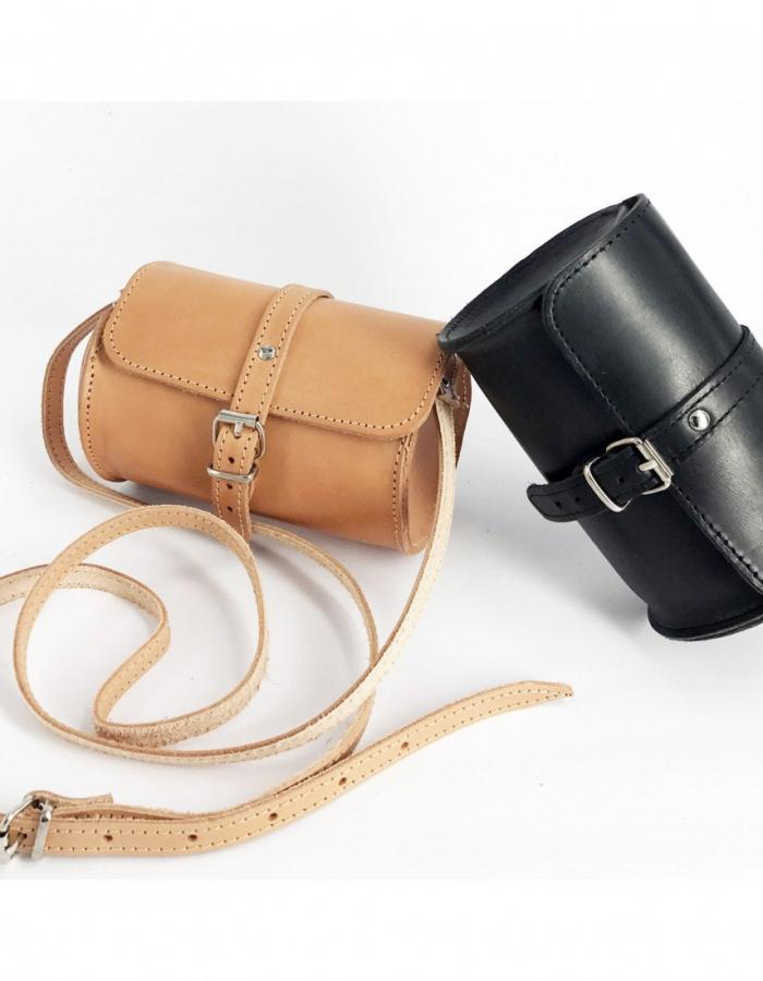 Leather Barrel Shoulder Bag Natural Tan Beige Vintage Brown Black Handmade Cross Body Saddle Vintage Handbag Purse S