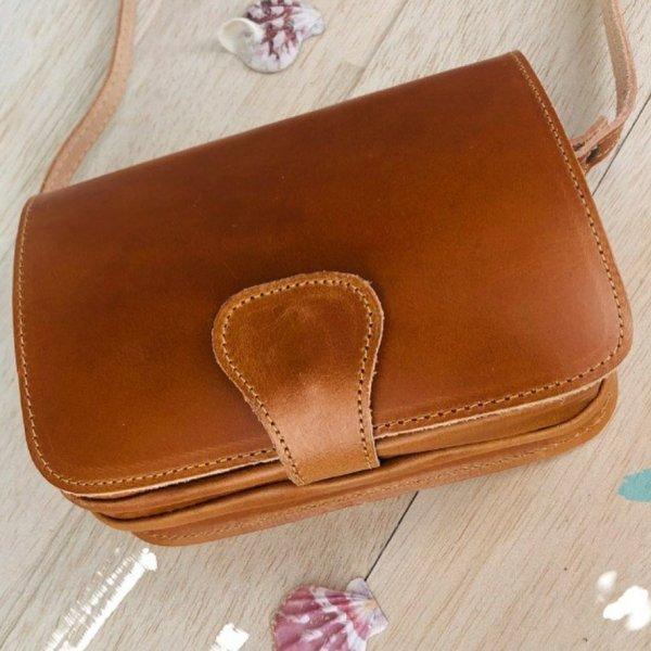 Leather Shoulder Bag Handmade Design Natural Beige Brown Black Cross Body Satchel Vintage Saddle Handbag Purse  S