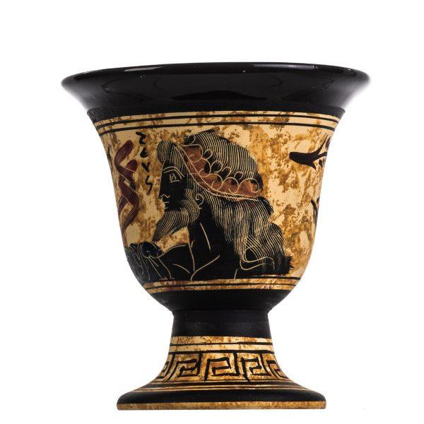 Pythagoras Cup of Justice Pythagorean Fair Mug Ancient Greek God Zeus Hand Painted Ceramic Usable
