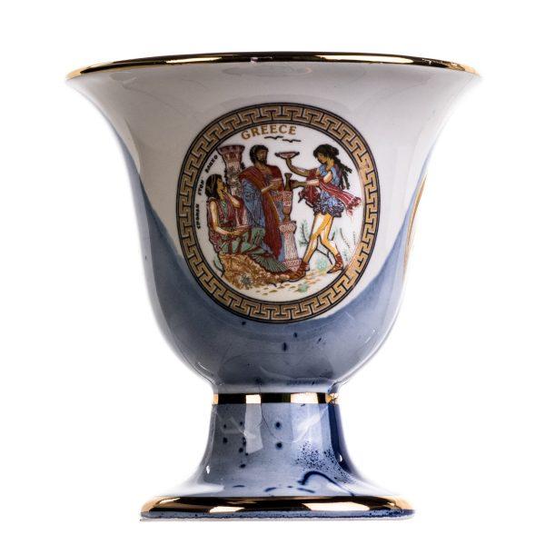 Pythagoras Cup of Justice Dionysus Phaethon Pythagorean Fair Mug Ancient Greece Blue Cobalt Usable