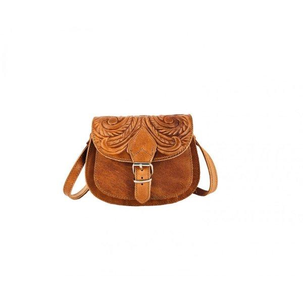 Embossed Leather Shoulder Bag Handmade Floral Pyrography Design Natural Beige Brown Black Cross Body Satchel Vintage Saddle Handbag Purse S