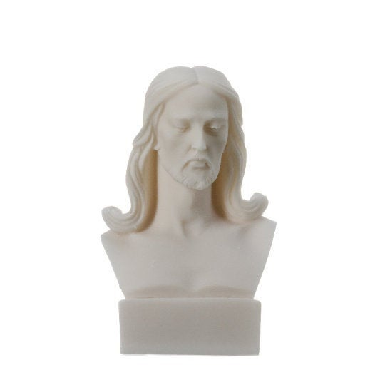 Jesus Christ Statue Alabaster Bust 4.72″