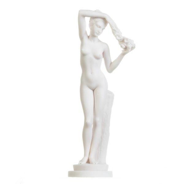 Nude Kore Goddess Greek Mythology Statue Figurine Handmade Sculpture 11.5 Inches