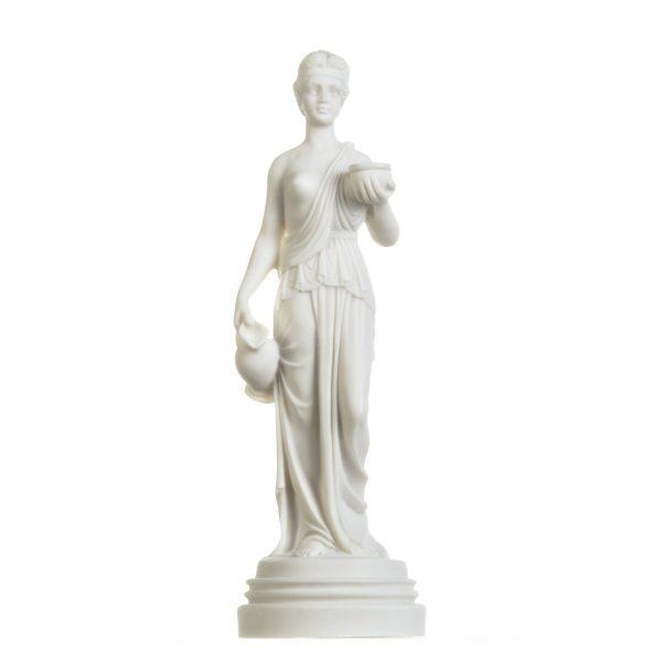 Hebe Youth Goddess Female Figure Cupbearer Mythology Alabaster Statue Handmade 11.5 Inches
