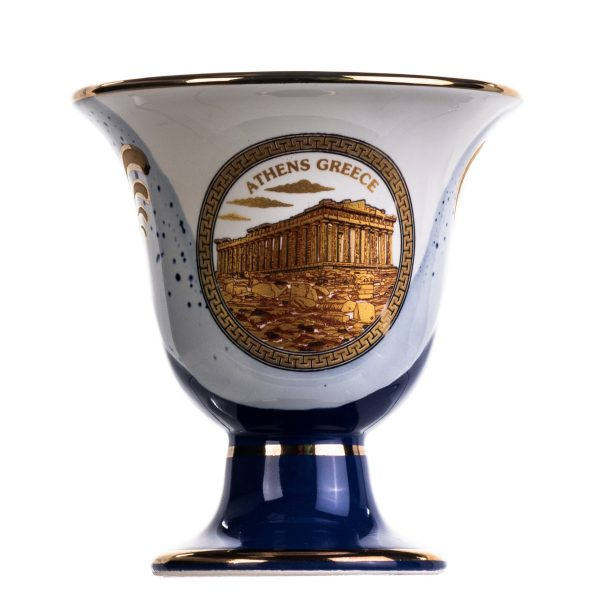 Pythagoras Cup of Justice Minoan Acropolis Pythagorean Fair Mug Ancient Greece Blue Cobalt Usable