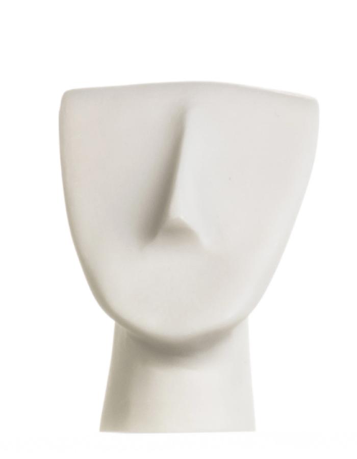Cycladic Art Head Figure Cycladic Idol Alabaster Statue Handmade Sculpture 4.2 Inches
