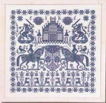 Permin Blue Sampler Cross Stitch Pattern