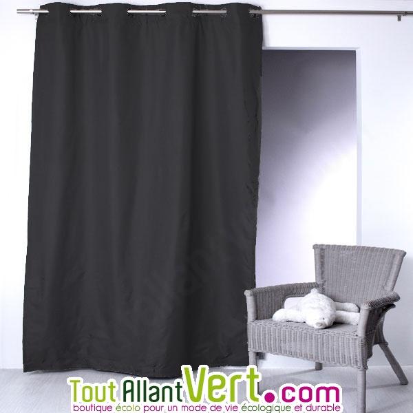 rideau isolant thermique ete et hiver avec oeillets porte et fenetre