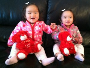 Daughters happy and healthy after overcoming twin-to-twin transfusion syndrome