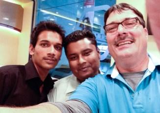 Selfie of Dr. Hertle with members of the Goutami Eye Hospital staff.