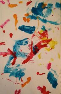 Recent painting by Karmella Wilkins of art tracker program