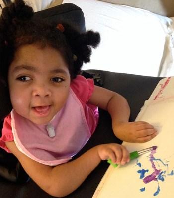 Akron Children's art tracking program helps patients such as Karmella Wilkins express herself through art.