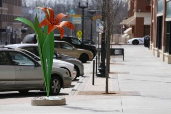 You can find this eye-popping Tiger Lily sculpture on E. Erie Street in downtown Kent.