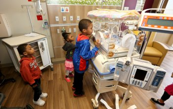 Families got a sneak peak at the new NICU during a public grand opening celebration in April.