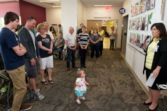 Families of NICU grads featured on the Wall of Hope gathered to celebrate each other and see the display in person.