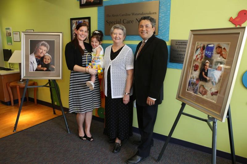 Eleanor Watanakunakorn with son, Paul, daughter-in-law, Amanda, and granddaughter, Alexis
