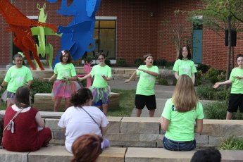 Dance Unlimited provide entertainment for attendees