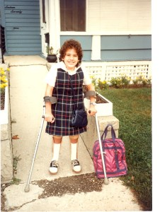 Sarah's first day at Holy Family.